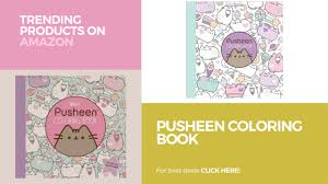 pusheen coloring book trending products on amazon youtube