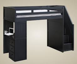 Solid Wood Loft Bed Plans by Bedroom Medium Loft Bed Made Of Solid Wood In White Finished