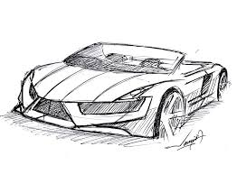how to draw a convertible super car drawn under 9 minutes ball