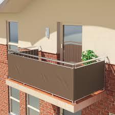 balkon sichtschutz kunststoff premium balkon sichtschutz windschutz 100 blickdicht balkon