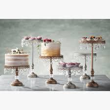 vintage wedding cake stands diy 3 antique gold beaded mirror top cake stands set vintage