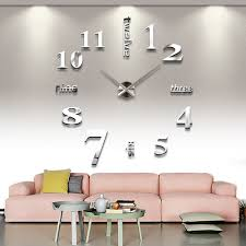 Decorative Wall Clocks For Living Room Aliexpress Com Buy Diy Large Modern Design Decorative Digital 3d