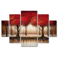 5 piece canvas wall art hand painted palette knife oil 5 piece canvas wall art sets wayfair