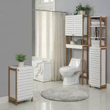 Gray Floor Bathroom - linen cabinets u0026 towers you u0027ll love wayfair