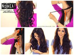 no heat curls waves hairstyles tutorial video