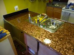 100 penny kitchen backsplash 100 copper tiles kitchen