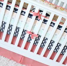 Navy And Coral Baby Bedding Arizona Baby Bedding Coral And Navy Bedding Set Crib