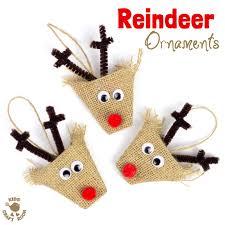 reindeer ornaments adorable burlap reindeer ornaments kids craft room