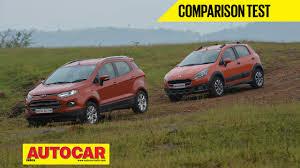 nissan juke vs ford ecosport fiat avventura vs ford ecosport video comparison autocar india