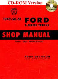 1949 52 ford truck shop manual ford motor company david e