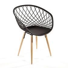 fauteuil design fauteuil design en polypropylène et bois naturel sidera 4