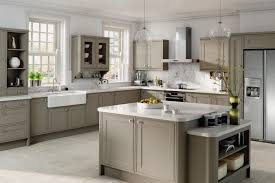 hard maple wood unfinished raised door grey cabinets in kitchen