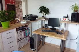 plateau bureau sur mesure aménagement d un coin bureau sur mesure en bois massif
