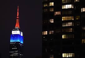 Paris Flag Image Empire State Building In French Flag Colors False Report 2015