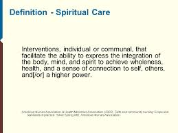 evidenced based spiritual care and quality improvement ppt