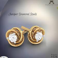 gold earring studs designs best 25 gold diamond earrings ideas on gold