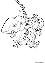 swinging boots and dora s to printe4a0 coloring pages printable