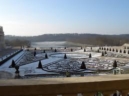 versailles 29 geometric garden in winter