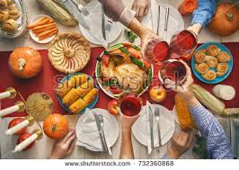 happy thanksgiving day autumn feast family stock photo 737439031