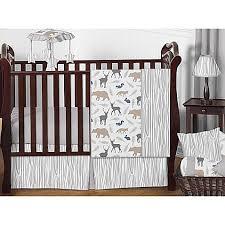 Crib Bedding Animals Sweet Jojo Designs Woodland Animals Crib Bedding Collection
