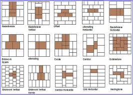 Bathroom Tile Layout Ideas by Brick Layout Patterns Pattern Potential Subway Backsplash Tile
