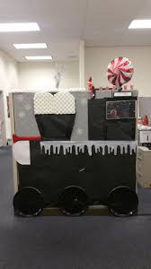 polar express decorating cubicles at work for christmas