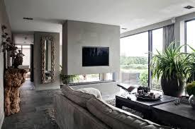 Wohnzimmer Modern Mit Ofen Den Sitzbereich Vor Dem Kamin Im Wohnbereich Gemütlich Einrichten