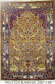 Kashan Persian Rugs by Rug No 1524 Persian Kashan Tree Of Life Design Circa 1910