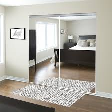 Custom Sliding Mirror Closet Doors For The Entryway Reliabilt 48 In X 80 In Mirrored Interior Sliding