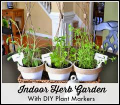 a pretty mini indoor herb garden and diy plant markers worthing