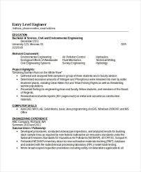 Environmental Engineer Resume Sample by Engineering Resume Template 32 Free Word Documents Download