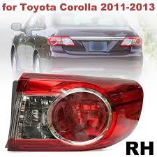 2011 toyota corolla brake light bulb to2804111 81560 02580 pmma red rear right side tail light brake