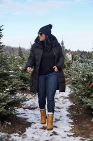 christmas tree farm vibes in cougar boots girls of t o