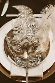 Black And Silver Centerpieces by Tiffany Blue Black Silver And White Mask Centerpiece With Light