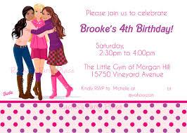 Barbie Invitation Card Rachel U0027s Party Place Barbie Birthday Party