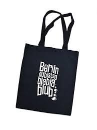 beutel sprüche jutebeutel bedruckt mit berliner spruch berlin bla bla