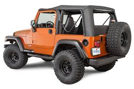 jeep soft top open whitco replacement soft top without doors for 97 06 wrangler tj