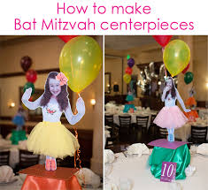 how to make centerpieces how to make personalized custom bar bat mitzvah table