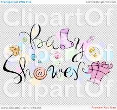 royalty free vector clip art illustration of baby shower text with