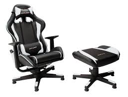 dx racer f series console gaming chair black u0026 white pu leather