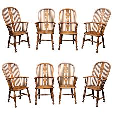 Windsor Armchairs Set Of Eight High Back Windsor Armchairs English Circa 1850