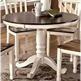 Amazoncom White Tables  Kitchen  Dining Room Furniture Home - White and wood kitchen table