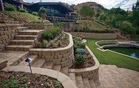 How To Landscape A Sloped Backyard - elegant retaining wall backyard landscaping ideas 27 backyard