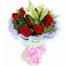 Birthday Flowers Delivery Buy 11 Red Roses Lily Bouquet Birthday Flower Delivery