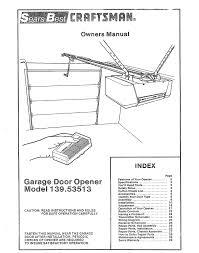 sears garage door manual craftsman 1 2 horsepower garage door opener manual