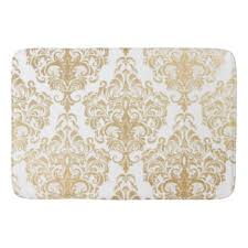 Damask Bath Rug Gold Bath Rugs Home Design Ideas And Pictures