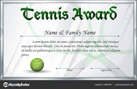 certificate template for tennis award stock vector certificate template for tennis award illustration vector interactimages