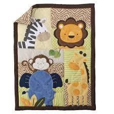 Safari Nursery Bedding Sets by Amazon Com Tiddliwinks Safari Friends 3pc Baby Crib Bedding Set