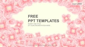 pink floral abstract ppt templates download free