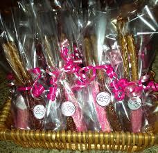 bridal shower favors diy chocolate dipped pretzel sticks cute
